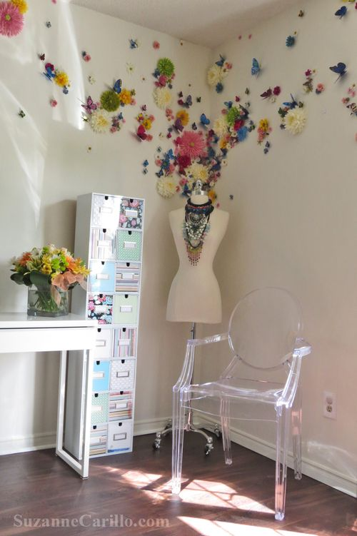 Woman's home office decorating idea suzanne carillo style files