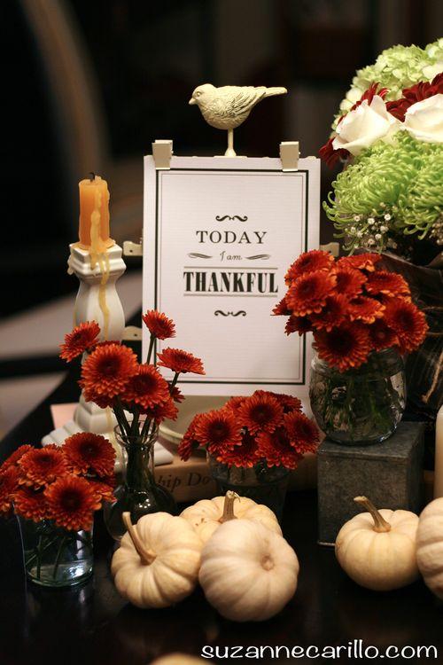 Today I am thankful thanksgiving table setting idea suzanne carillo