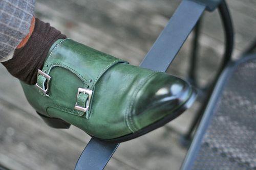 Green brunello cucinelli men's shoes