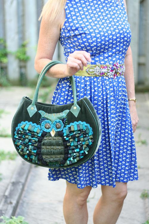Owl handbag how to pop your accessories over 40 suzanne carillo style files