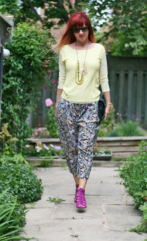 Wear sequins during the day. How to wear harem pants over 40 suzanne carillo style files