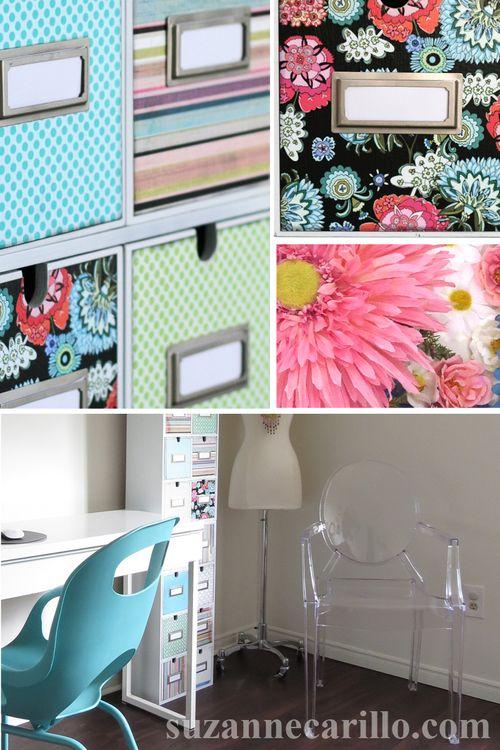 DIY home office storage decoupage project suzanne carillo