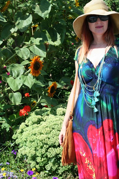 How to style a maxi dress in summer suzanne carillo style files