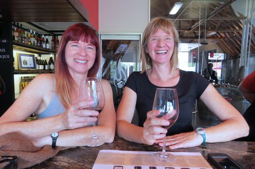 Suzanne carillo dedra scott wine tasting southter ontario burning kiln winery