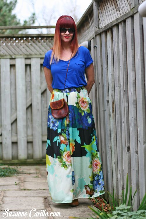 Anthropologie printed bold maxi skirt suzanne carillo how to wear a maxi skirt