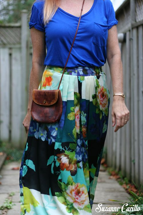 Blue printed anthropologie maxi skirt how to wear a bold printed maxi skirt